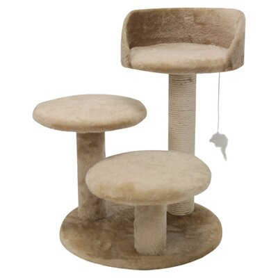 "Majestic Pet Products 27"" Casita Fur Cat Tree"