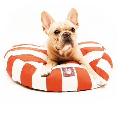 Majestic Pet Vertical Strip Round Dog Pillow