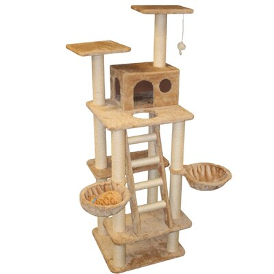 "Majestic Pet Products 72"" Casita Fur Cat Tree"