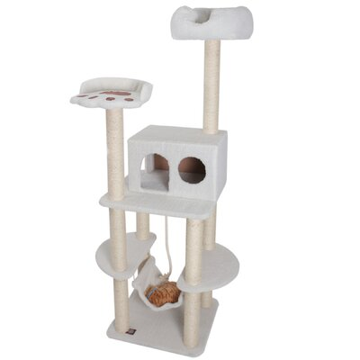 "Majestic Pet Products 76"" Bungalow Sherpa Cat Tree"