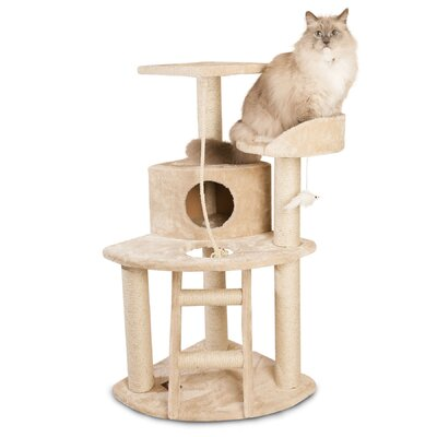 "Majestic Pet Products 48"" Casita Fur Cat Tree"