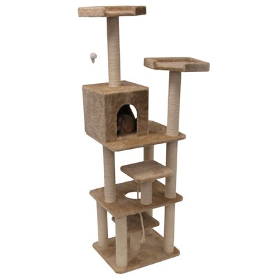 "Majestic Pet Products 78"" Casita Fur Cat Tree"