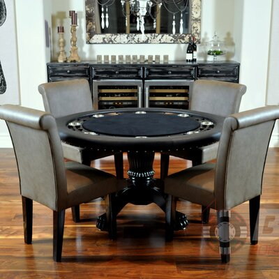 Nighthawk 6 Piece Poker Dining Table Set with Lounge Chairs