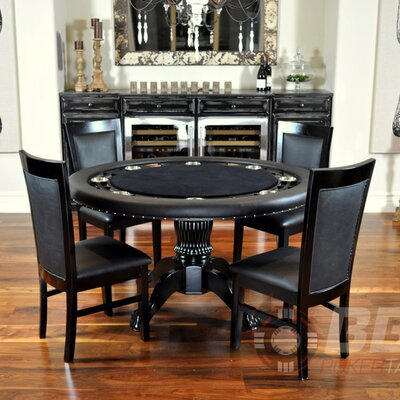 BBO Poker Nighthawk 6 Piece Poker Dining Table Set with Dining Chairs