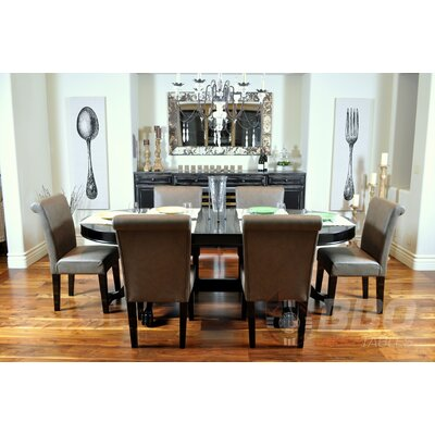 BBO Poker Elite 8 Piece Dining Table Set with Premium Chairs
