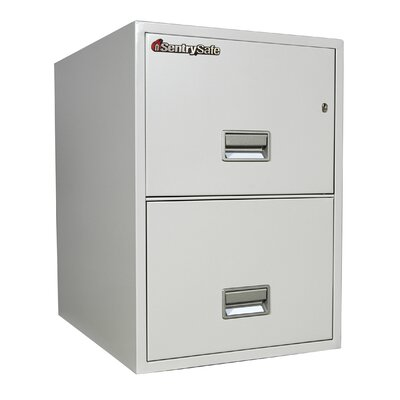 "Sentry Safe 19.6"" W x 25"" D 2-Drawer Fireproof Key Lock 2 Drawer Letter File Safe"