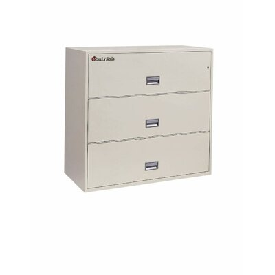 "Sentry Safe 43"" W x 20.5"" D 3-Drawer Fireproof Key Lock Letter File Safe"