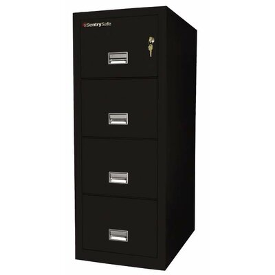 "Sentry Safe 20.6"" W x 31.5"" D 4-Drawer Fireproof Key Lock Letter File Safe"