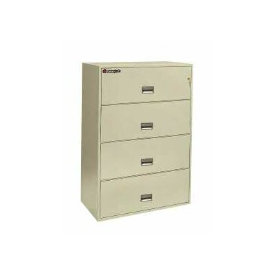 "Sentry Safe 35.8"" W x 20.4"" D 4-Drawer Fireproof Key Lock Letter File Safe"