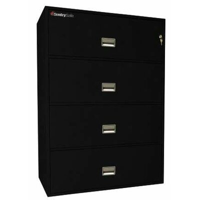 Sentry Safe 1 Hr Fireproof Key Lock 4 Drawer Letter File Safe