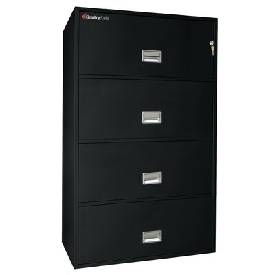 "Sentry Safe Sentry®Safe 29.8"" W x 20.5"" D 4-Drawer Fireproof Key Lock Letter File Safe"