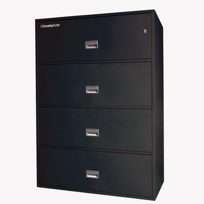 "Sentry Safe 42.8"" W x 20.5"" D 4-Drawer Fireproof Key Lock Letter File Safe"