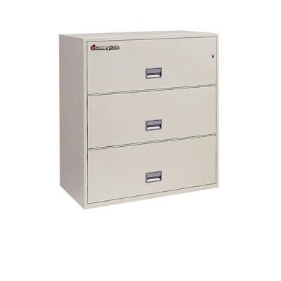 "Sentry Safe Sentry®Safe 35.8"" W x 20.5"" D 3-Drawer 1 Hr Fireproof Key Lock Letter File Safe"