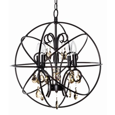 Wildon Home ® Orbit 4 Light Mini Chandelier
