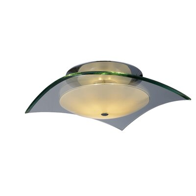 Curva Square Semi Flush Mount