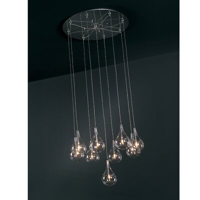Wildon Home ® Sklo 9 - Light Multi - Light Pendant