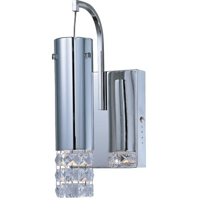 ET2 Bangle One Light Wall Sconce with Crystal Glass Shade in Polished Chrome