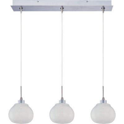 "Wildon Home ® Minx 3.25"" 3 Light RapidJack Linear Pendant"