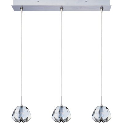 "Wildon Home ® Minx 3.75"" 3 Light RapidJack Linear Pendant"