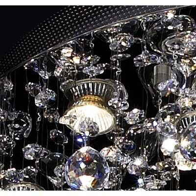 ET2 Cascada 18 Light Crystal Flush Mount