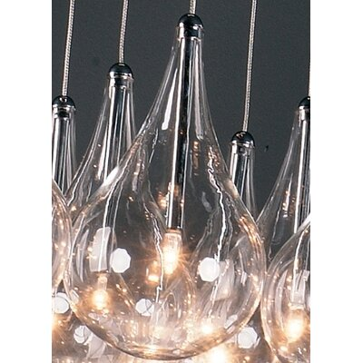 Wildon Home ® Sklo 16 - Light Multi - Light Pendant