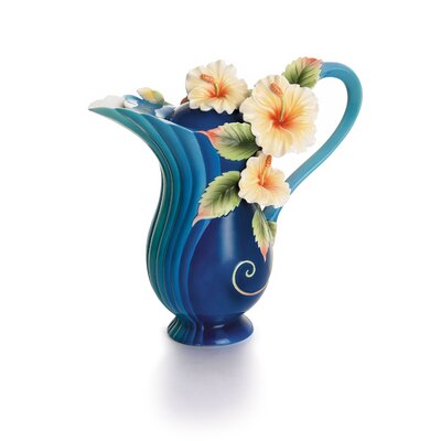 Franz Collection Tropical Beauty Floral Porcelain Teapot