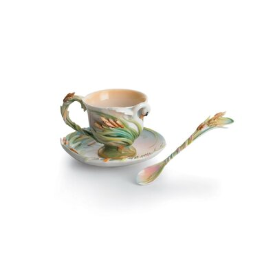 Franz Collection Swan Lake Swan Porcelain Tea Cup Set