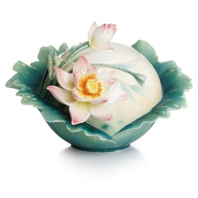 Franz Collection Peaceful Lotus Sugar Bowl with Lid