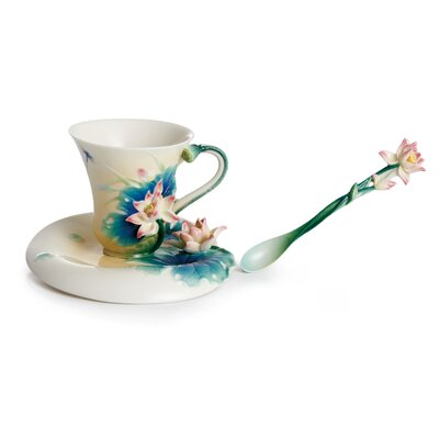 Franz Collection Peaceful Lotus Porcelain Tea Cup Set