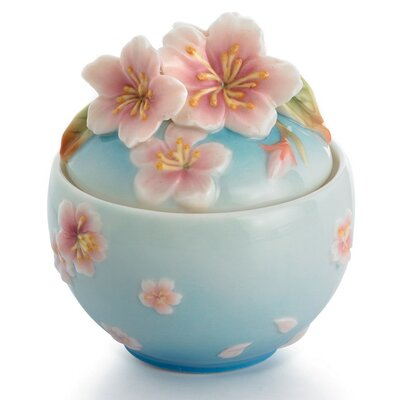 Franz Collection Sakura Floral Sugar Bowl with Cover