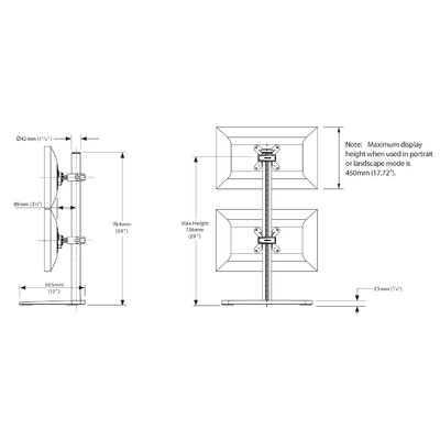 Visidec Freestanding Dual Vertical Quick Shift Wall Mount
