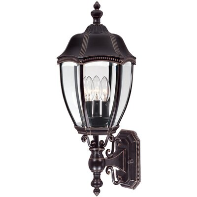 Dolan Designs Roseville Three Outdoor Wall Lantern in Antique Bronze