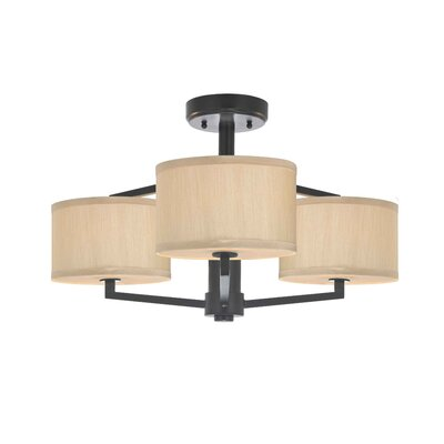 Dolan Designs Monaco 3 Light Semi-Flush Mount