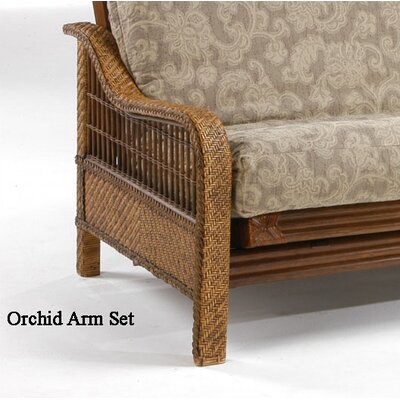 Night & Day Furniture Rattan Floral Orchid Futon Frame