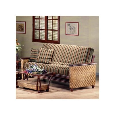 Night & Day Furniture Rattan Floral Magnolia Futon Chair Frame