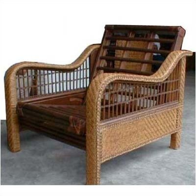 Night & Day Furniture Rattan Floral Orchid Futon Chair Frame