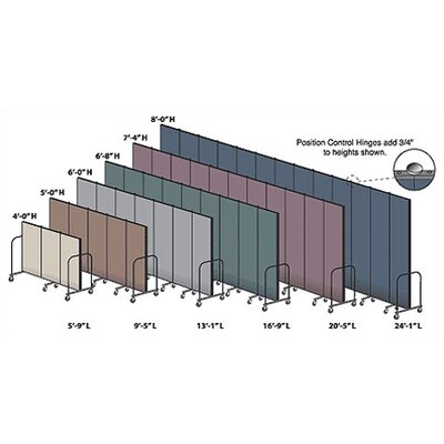 ScreenFlex Commercial Edition Seven Panel Portable Room Divider
