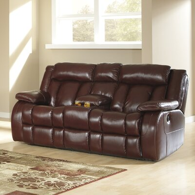 Ernest Double Rec Loveseat with Console