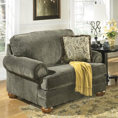 Signature Design by Ashley Hatton Chair and a Half and Ottoman