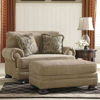 ... Ashley Dozier Dozier Chair and a Half and Ottoman & Reviews  Wayfair