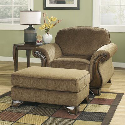 Elberta Chair and Ottoman