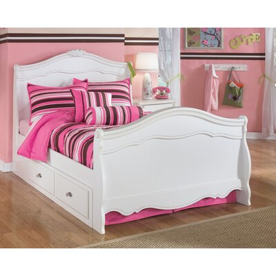 Lydia sleigh bedroom set with twin trundle panel in white White twin trundle bedroom set