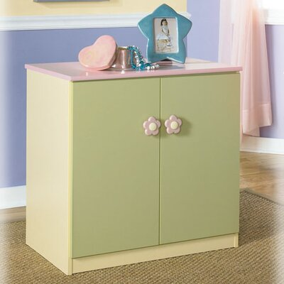 Signature Design by Ashley Harper Loft Two Door Storage Unit in Multicolored Pastel