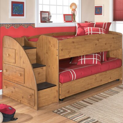 Signature Design by Ashley Elsa Twin Loft Bed with Trundle Bed and Storage