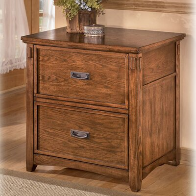 Signature Design by Ashley Cross Island Lateral File in Medium Brown Oak