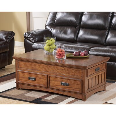 Signature Design by Ashley Castle Hill Trunk Coffee Table with Lift Top