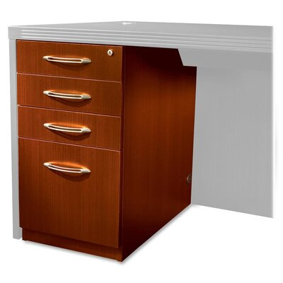 Mayline Group Aberdeen 4-Drawer Pbbf Laminate Desk Pedestal