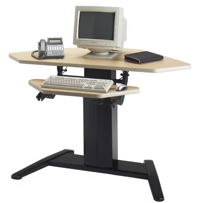 "Mayline Group VariTask E-Series Dual Surface Corner Unit 42"" W x 30"" D Computer Table"