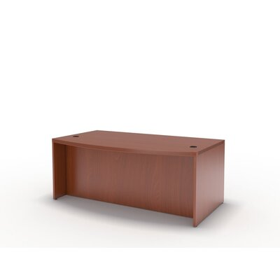 Mayline Group Aberdeen Series Laminate Bow Front Desk Shell