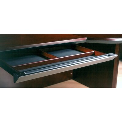 Mayline Group Corsica Series Center Drawer, Veneer, 30 x 18 x 2, Mahogany